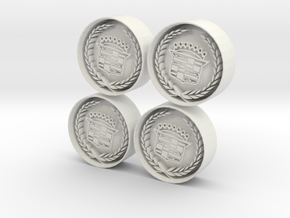 Caddilac Wheel in White Natural Versatile Plastic: 1:18