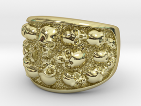Multi Skull Ring in 18k Gold