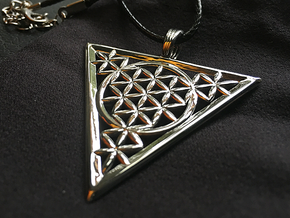 FLOWER OF RA in Rhodium Plated Brass