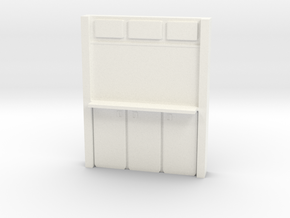 Basic Wall Unit in White Processed Versatile Plastic