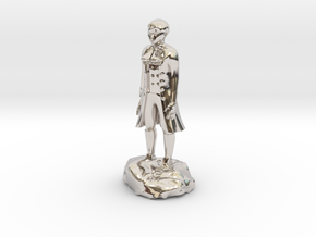 Billy, the demonic kid, in aristocrat attire. in Rhodium Plated Brass