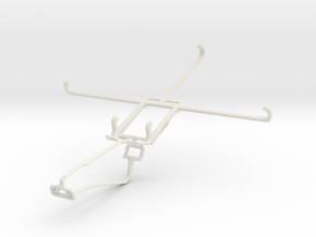 Controller mount for Xbox One Chat & BLU Life View in White Natural Versatile Plastic
