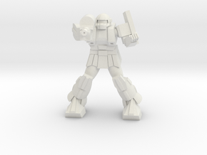 Bulldog pose 3 in White Natural Versatile Plastic