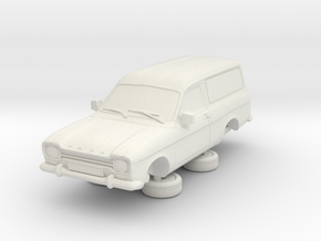 1-64 Escort Mk 1 2 Door Van in White Natural Versatile Plastic