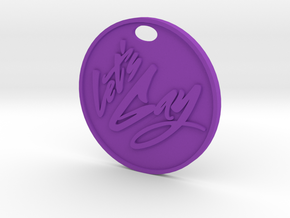 Lets Gay Keychain in Purple Strong & Flexible Polished