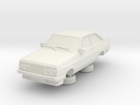 1-64 Escort Mk 2 2 Door Rs 2000 in White Natural Versatile Plastic