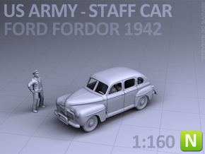 American Staff Car 1942 (N scale) in Smooth Fine Detail Plastic
