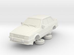 1-64 Ford Escort Mk3 2 Door Xr3i in White Natural Versatile Plastic
