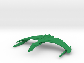 Romulan Valdore Type Warbird 1/15000 in Green Strong & Flexible Polished