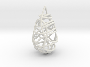 Intertwined Drop Pendant in White Natural Versatile Plastic