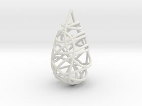 Intertwined Drop Pendant in White Natural Versatile Plastic