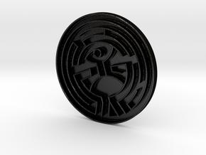 The Maze (Westworld) in Matte Black Steel