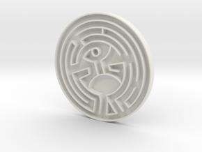 The Maze (Westworld) in White Natural Versatile Plastic