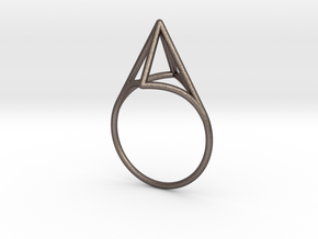 Strukt Ring  in Polished Bronzed Silver Steel: 7.5 / 55.5