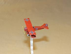 Fokker D.VII 1:144th Scale in White Strong & Flexible