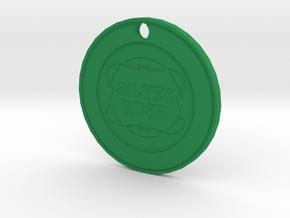 Silver Rush Chip Pendant in Green Processed Versatile Plastic