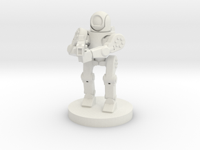 Rifle Sentry Robot (18mm Scale) in White Natural Versatile Plastic