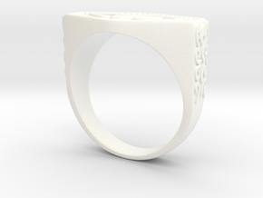 Chevalière Sculptée in White Processed Versatile Plastic