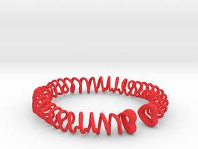 Heart Spring Bracelet Twirl in Red Processed Versatile Plastic