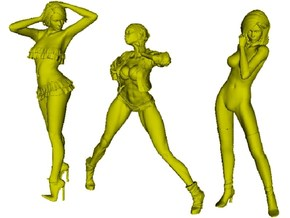 1/24 scale sexy girl figures x 3 pack A in Frosted Ultra Detail