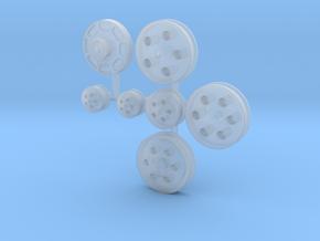 Billet Serpentine Pulleys 1/18 in Smooth Fine Detail Plastic