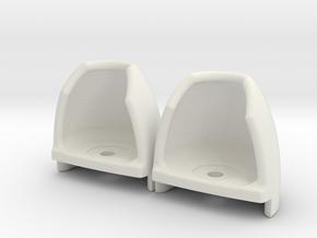 Safetycarpet Light Universel Pair in White Natural Versatile Plastic