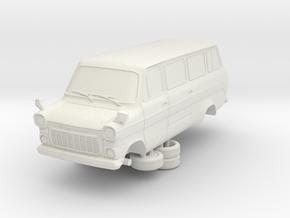 1-87 Ford Transit Mk1 Long Base Van Mini Bus (repa in White Strong & Flexible