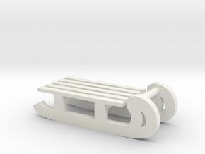 Sledge in White Natural Versatile Plastic
