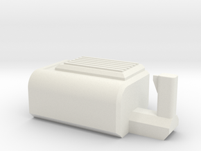 Mini Gun Body in White Natural Versatile Plastic: Small