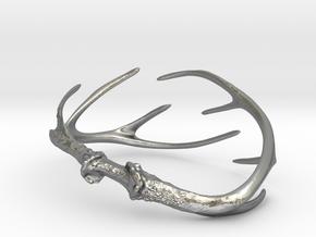 Antler Bracelet - Child size (65mm) in Natural Silver