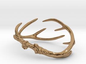 Antler Bracelet Medium/Small (75mm)  in Polished Brass