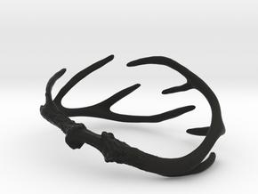 Antler Bracelet - 85mm in Black Natural Versatile Plastic