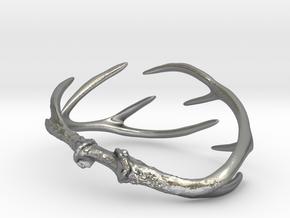 Antler Bracelet Medium/Small (75mm)  in Natural Silver