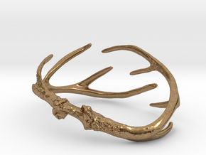 Antler Bracelet - 80mm in Natural Brass