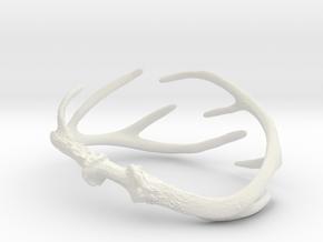 Antler Bracelet - 80mm in White Natural Versatile Plastic
