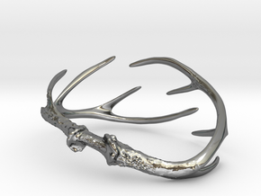 Antler Bracelet - Small (70mm) in Fine Detail Polished Silver