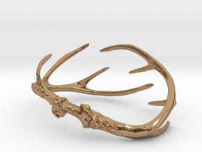 Antler Bracelet - Small (70mm) in Polished Brass