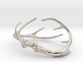 Antler Bracelet - Small (70mm) in Rhodium Plated Brass
