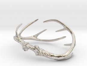 Antler Bracelet - Small (70mm) in Rhodium Plated Brass