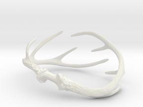 Antler Bracelet - Small (70mm) in White Natural Versatile Plastic