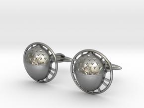 Bilbo's acorn cufflinks in Natural Silver