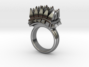 Ferocious Spiked Band (Size 6) in Fine Detail Polished Silver
