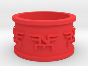 Final Ring Prototype Ring Size 12 in Red Processed Versatile Plastic