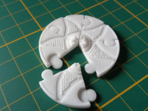 Clue Marker set for Arkham Horror in White Natural Versatile Plastic: Small
