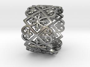 Anneau Cathédrale H14-1,4mm T8.5 Ring Size 8.5 in Raw Silver