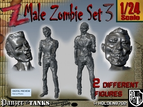 1-24 Male Zombie Set3 in White Natural Versatile Plastic