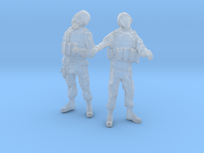 1-24 Military Zombie Set 3 in Smooth Fine Detail Plastic