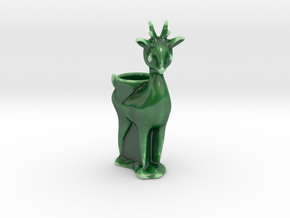 Reindeer Lumiere (tea light holder) 2 in Gloss Oribe Green Porcelain