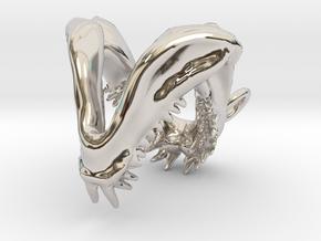 Mako Shark Jaws in Rhodium Plated Brass