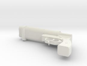 1/6 SIGNAL UND LEUCHT DOPPEL FLARE GUN in White Natural Versatile Plastic